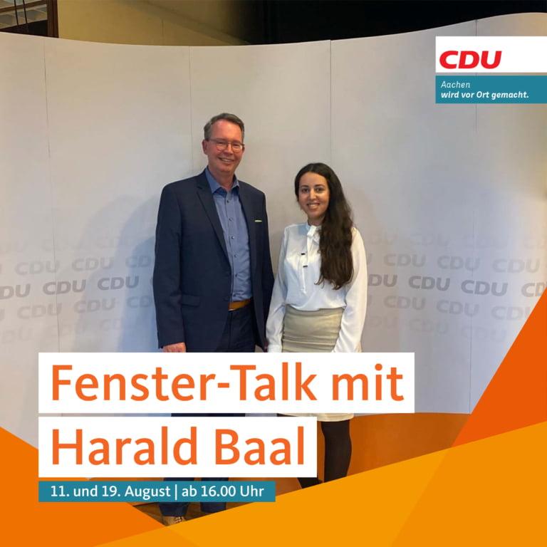 Fenster-Talk mit Harald Baal und Ilham El Fallaki