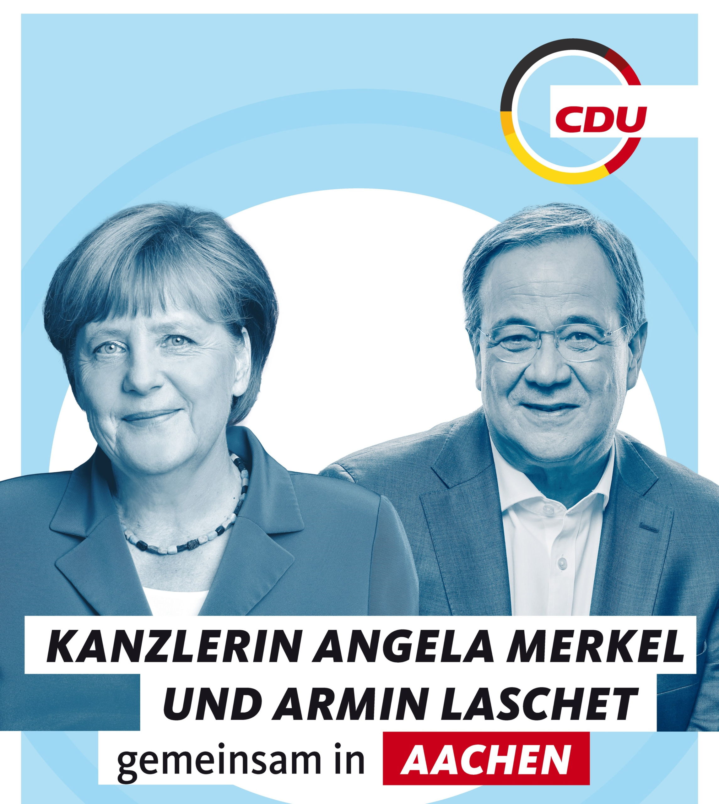 Dr. Angela Merkel und Armin Laschet gemeinsam in Aachen